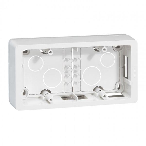 cadre saillie c liane 2 postes horizontal vertical blanc achat vente legrand 080242. Black Bedroom Furniture Sets. Home Design Ideas