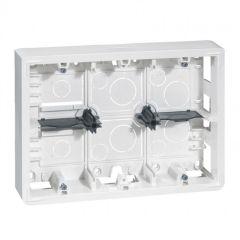 Cadre Prog Mosaic - pour support réf. 802 66 - prof 46 mm- 2x6/2x8/2x3x2 modules