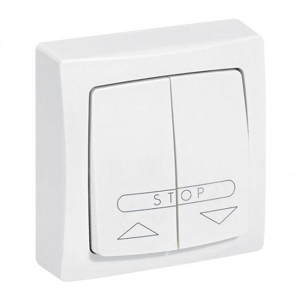 poussoir pour volets roulants appareillage saillie complet blanc achat vente legrand 086010. Black Bedroom Furniture Sets. Home Design Ideas