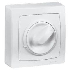 Variateur appareillage saillie complet - blanc