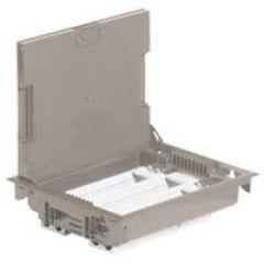 Boîte de sol haut. 75-105 - à équiper - 24 mod - couv revêtement beige RAL 1019