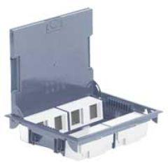 Boîte de sol haut. 65 mm - à équiper - 8x2 mod - couv pour revêtement