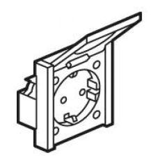 Prise de courant 2P+T standard allemand - montage en plastron - format réduit