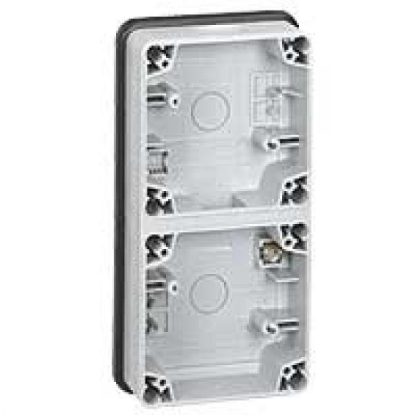 bo tier plexo 66 composable gris ip66 ik08 2 postes verticaux achat vente legrand 090492. Black Bedroom Furniture Sets. Home Design Ideas