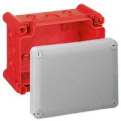 Bte rectangulaire 155x110x74 étanche Plexo gris/rouge - pour presse-étoupe ISO