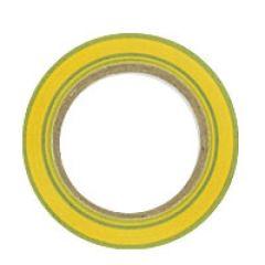 Ruban adhésif - PVC - 15 mm x 10 m - vert-jaune