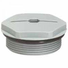 Bouchon plastique - IP68 - pour PE ISO 40 - RAL 7001
