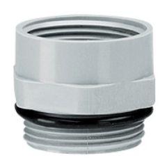 Adaptateur plastique PG/ISO - mâle PG 9 - femelle ISO 16 - RAL 7001