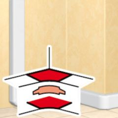 Angle intérieur 80 à 100° - DLP mono 50x105 couv l. 65 et 50x195 - blanc