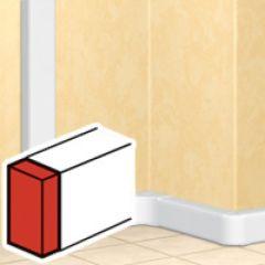 Embout gauche ou droit - DLP mono 65x150 - blanc