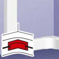 Accessoire VDI pour angle intérieur - toute DLP (sauf 35x80 et couv 40) - blanc