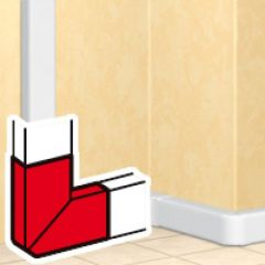 Angle plat 90° - DLP mono 50x150 - blanc