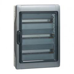 Coffret Plexo³ à équiper - 3 rangées de 18 mod - 1000 V= - photovoltaïque