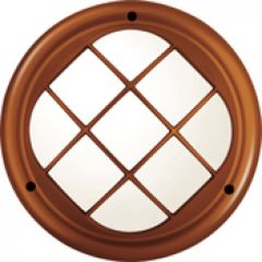 Hublot Koreo Cub rond grille taille 2 cuivre E27