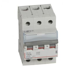 Inter-sectionneur de tête DX³-IS - vis/vis - 3P - 400 V~ - 100 A - 3 M