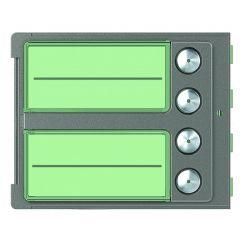 Façade Sfera Robur pour module électronique audio 4 appels