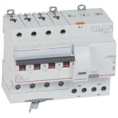 Disj diff DX³ 6000 -vis- 4P- 400V~ -40A-typeAC-300mA-10kA-courbe C - 7M