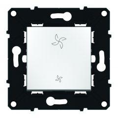 Interrupteur 2 positions pour commande VMC - Espace Evolution - Blanc