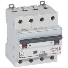 Disj diff DX³ 6000 -vis/vis- 4P 400V~ -10A - type A 300mA-10 kA- courbe C - 4M