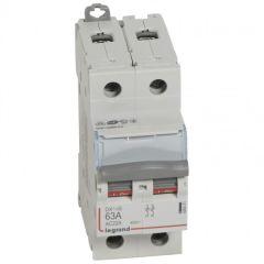 Inter-sectionneur de tête DX³-IS - vis/vis - 2P - 400 V~ - 63 A - 2 M
