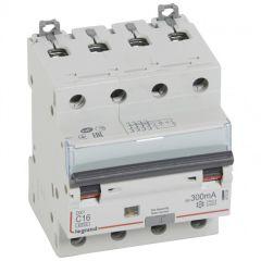 Disj diff DX³ 6000 -vis/vis- 4P 400V~ -16A - type A 300mA-10 kA- courbe C - 4M