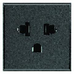 Prise standard euro-US  2P+T Axolute - 127/250 V - Anthracite - 1 module