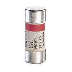 Cartouche domestique cylindrique - 10,3x25,8 mm - sans voyant - 16 A