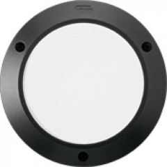 Luminaire Kalank rond alu antivandale taille 1 noir G24Q1 / 10W