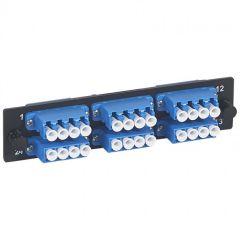 Bloc fibre optique LC - 24 fibres monomode - pr tiroir optique réf. 32569 - LCS²