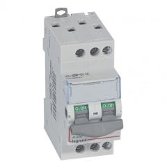 Inter-sectionneur de tête DX³-IS - vis/vis - 3P - 400 V~ - 20 A - 2 M