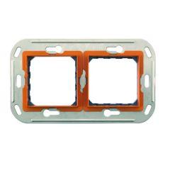 Support monobloc à vis 2 x 2 modules - entraxe 57 mm