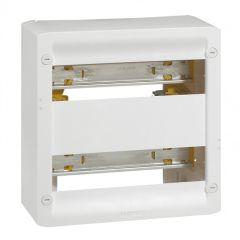 Coffret basique DRIVIA 13 modules à équiper - 250 x 250 mm - 2 rails DIN