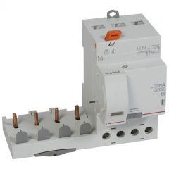 Bloc diff adapt DX³-vis-4P-400V~-63A-typeHpi-30mA-disj 1mod/pôle-câbl trad