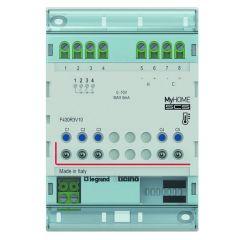 Actionneur 3 relais indépendants + 2 sorties 0-10 V MyHOME BUS - 4 modules