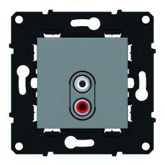 Double prise RCA préconnectorisée - Espace Evolution - Magnésium