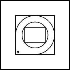 Détecteur alarme orientable Art d'Arnould Epure MyHOME BUS - acier satin