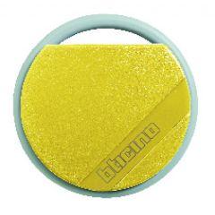 Badge de proximité résidents 13,56 MHz (lecture/écriture) - couleur jaune