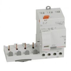 Bloc diff adapt DX³-vis-4P-400V~-40A-typeAC-30mA-disj 1mod/pôle-câbl trad