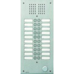 Platine de rue Série 100 audio - façade Inox 2,5 mm - 20 appels