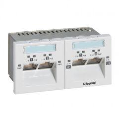 Switch fibre optique /cuivre -1 port RJ45 - 1 port SFP fibre optique-4 mod-Blanc