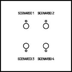 Commande 4 scénarios Art d'Arnould Epure MyHOME BUS - bronze