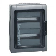 Coffret Plexo³ à équiper - 2 rangées de 12 mod - 1000 V= - photovoltaïque