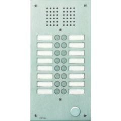 Platine de rue Série 100 audio - façade Inox 2,5 mm - 16 appels
