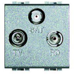 Prise TV-R-SAT Livinglight -  Tech - 2 modules