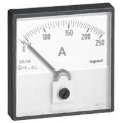 Cadran de mesure (1 rond + 1 carré) pour ampèremètre analogique - 0-250 A