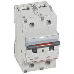 Disj magnéto-therm DX³ - 2P - 80 A - 36 kA - courbe C - 3M