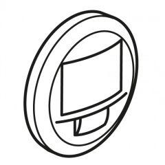 Enjoliveur Céliane - écodétecteur avec dérogation - blanc