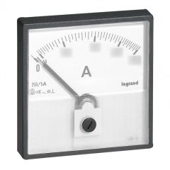 Cadran de mesure (1 rond + 1 carré) pour ampèremètre analogique - 0-2500 A