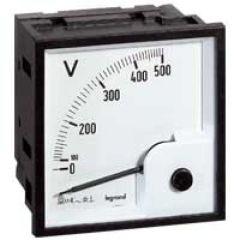 Voltmètre analogique à fût carré - 68 x 68 mm