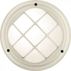 Hublot Koreo Cub rond grille taille 1 velours perle E27